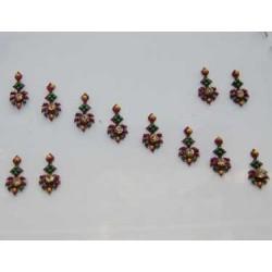 42_97 Stick on Sticker Body Jewelry Fancy Bindi