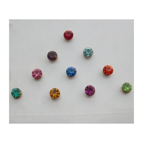 st9 Bindi Crystal Body Dots Sticker Jewelry Non Piercing