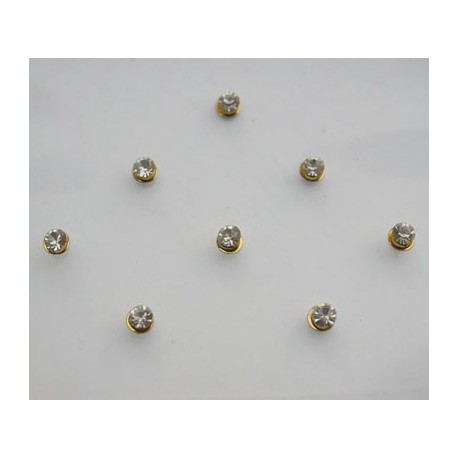 st8 Bindi Crystal Body Dots Sticker Jewelry Non Piercing