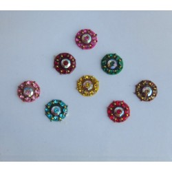 Bindi designs for round face Jeweled Bindis Indian Forehead dots Sticker jewelry