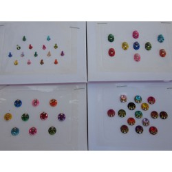 4 Different Full Packets Bollywood Fashion BINDIS / Temporary Bindi