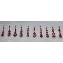 b135~Long Bindi Card Stick on Sticker Body Jewelry