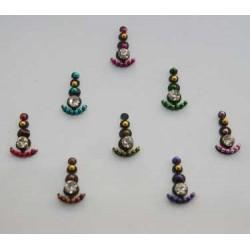 18_189 Stick on Sticker Body Jewelry Fancy Bindi