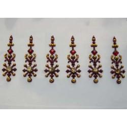 36_143 Stick on Sticker Body Jewelry Fancy Bindi