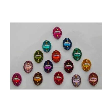 S_80_41 Stick on Sticker Body Jewelry Fancy Bindi