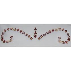 b120 ~Peer~ Forehead Eyebrow Decoration Jewels Sticker Body Jewelry