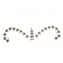 b209 ~Peer~ Forehead Eyebrow Decoration Jewels Sticker Body Jewelry
