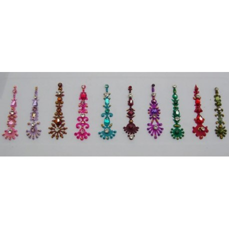 b150~Long Bindi Card Stick on Sticker Body Jewelry