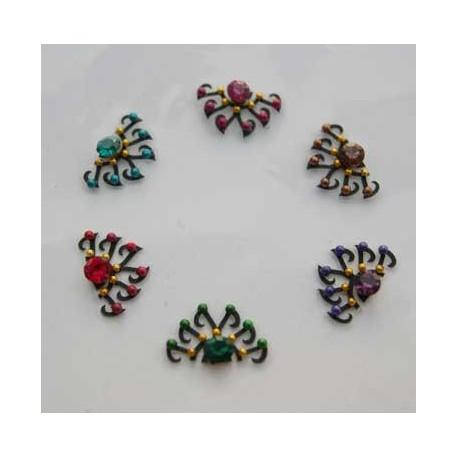 48_106 Stick on Sticker Body Jewelry Fancy Bindi