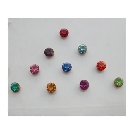 st9 Bindi Crystal Body Dots Sticker Jewelry Non Piercing