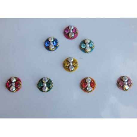 Bindis Body Jewelry Designer Handicraft Body Jewelry Designer Bindi Non Piercing jewelry