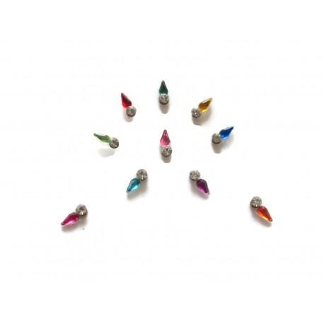 30_170 Stick on Sticker Body Jewelry Fancy Bindi