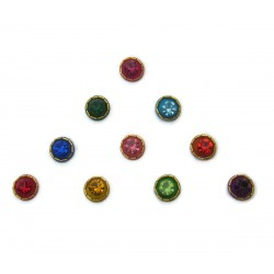 Indian Multi Color Fancy Bindi 1 Pack Bridal Forehead Bindi