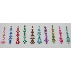 b156~Long Bindi Card Stick on Sticker Body Jewelry
