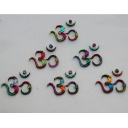 bz81 OM Tattoo Sticker Bindi Body Jewelry Non Piercing