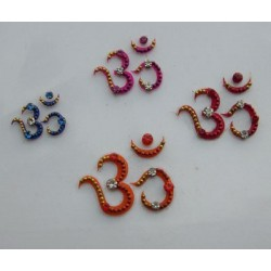 bz76 OM Tattoo Sticker Bindi Body Jewelry Non Piercing