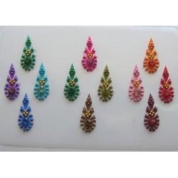 42_91 Stick on Sticker Body Jewelry Fancy Bindi